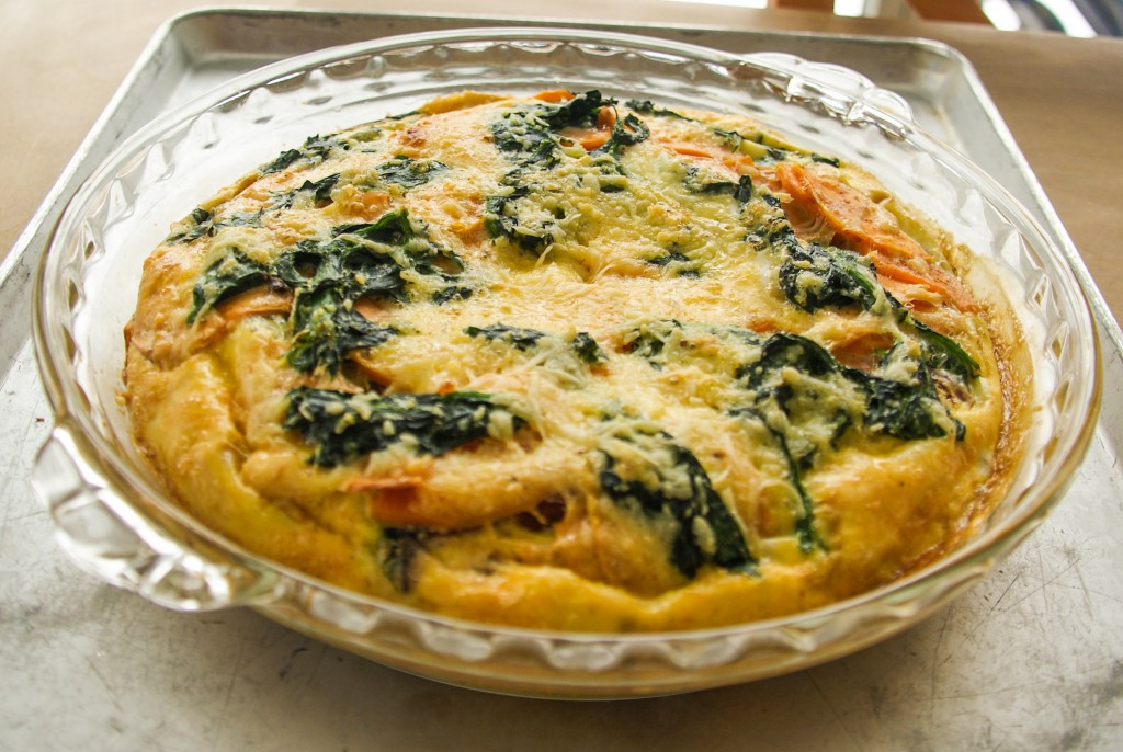 sweet potato spinach frittata swiss paleo