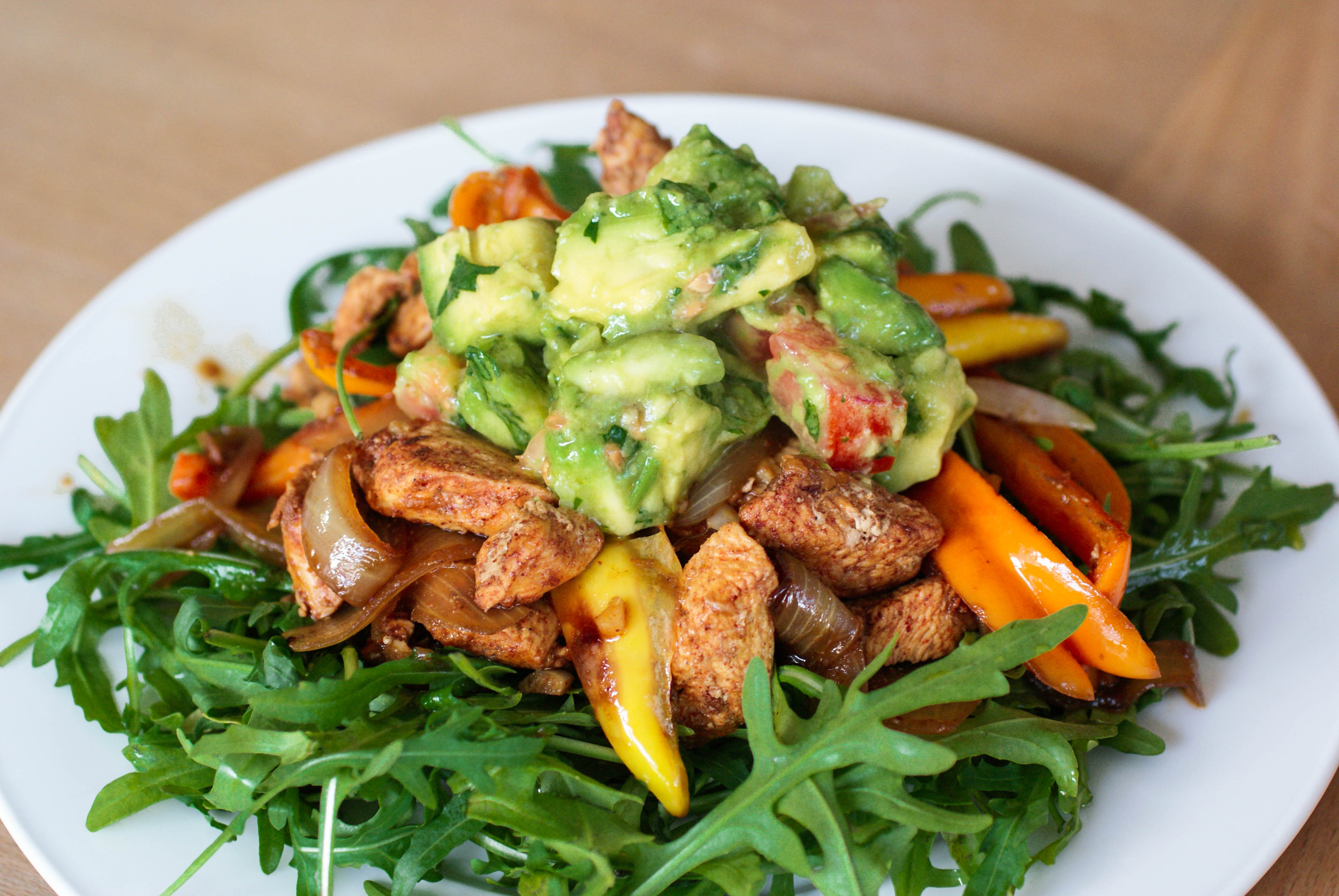 My dinner plate & Mexican Chicken Salad | Swiss Paleo