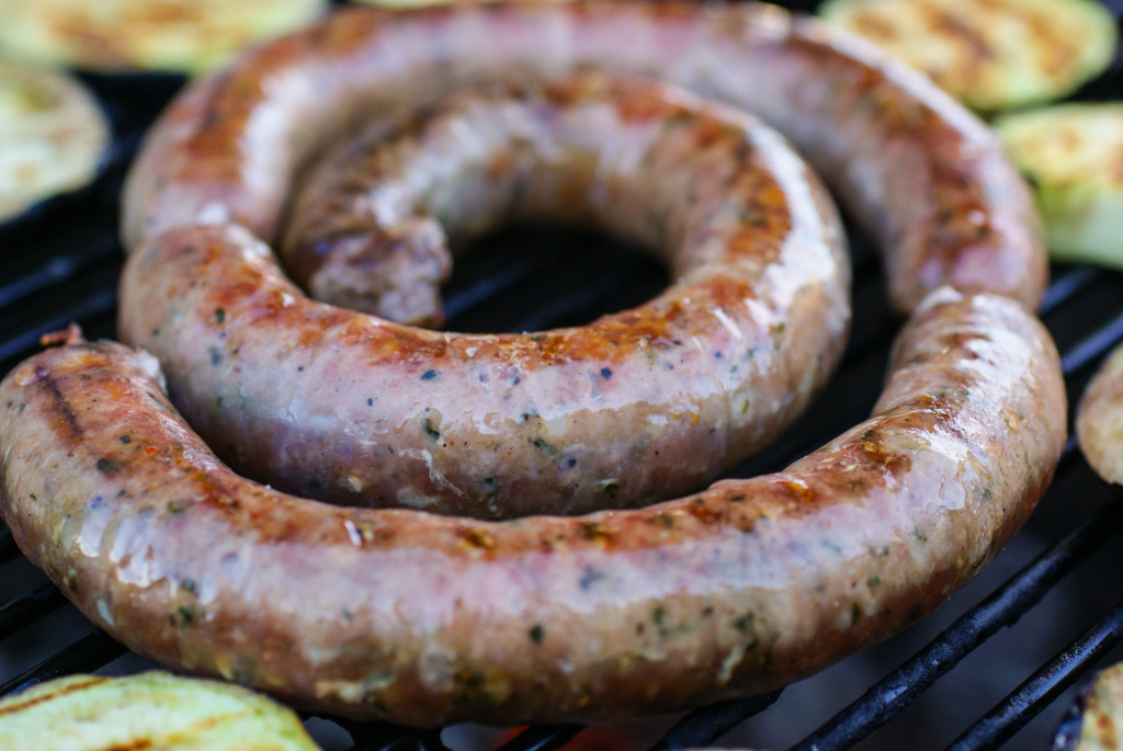 Made by hand sausage