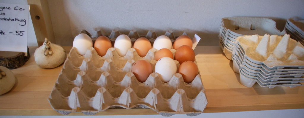 Fresh eggs from free ranging chickens