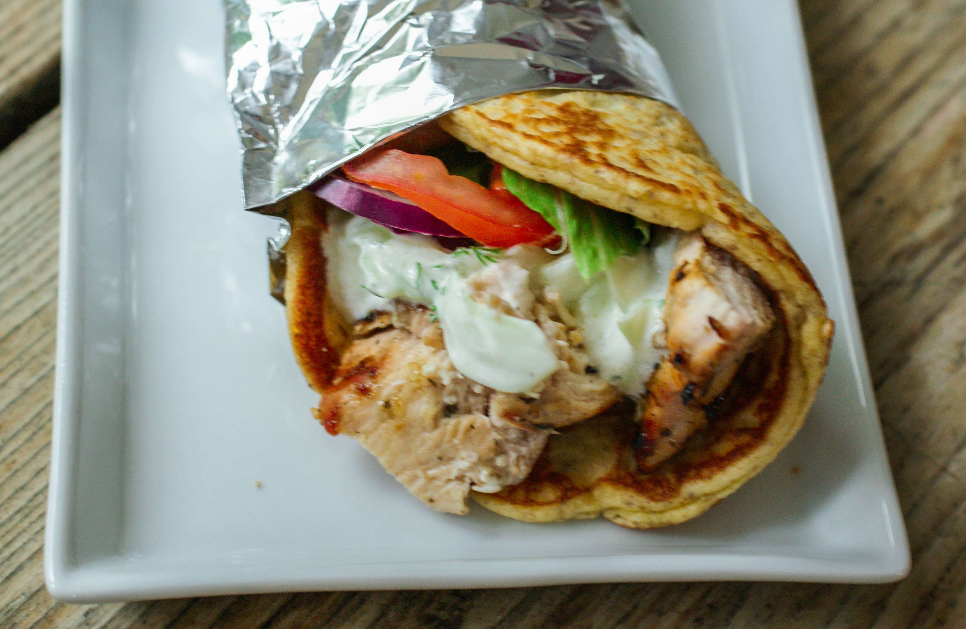 Our homemade gyros