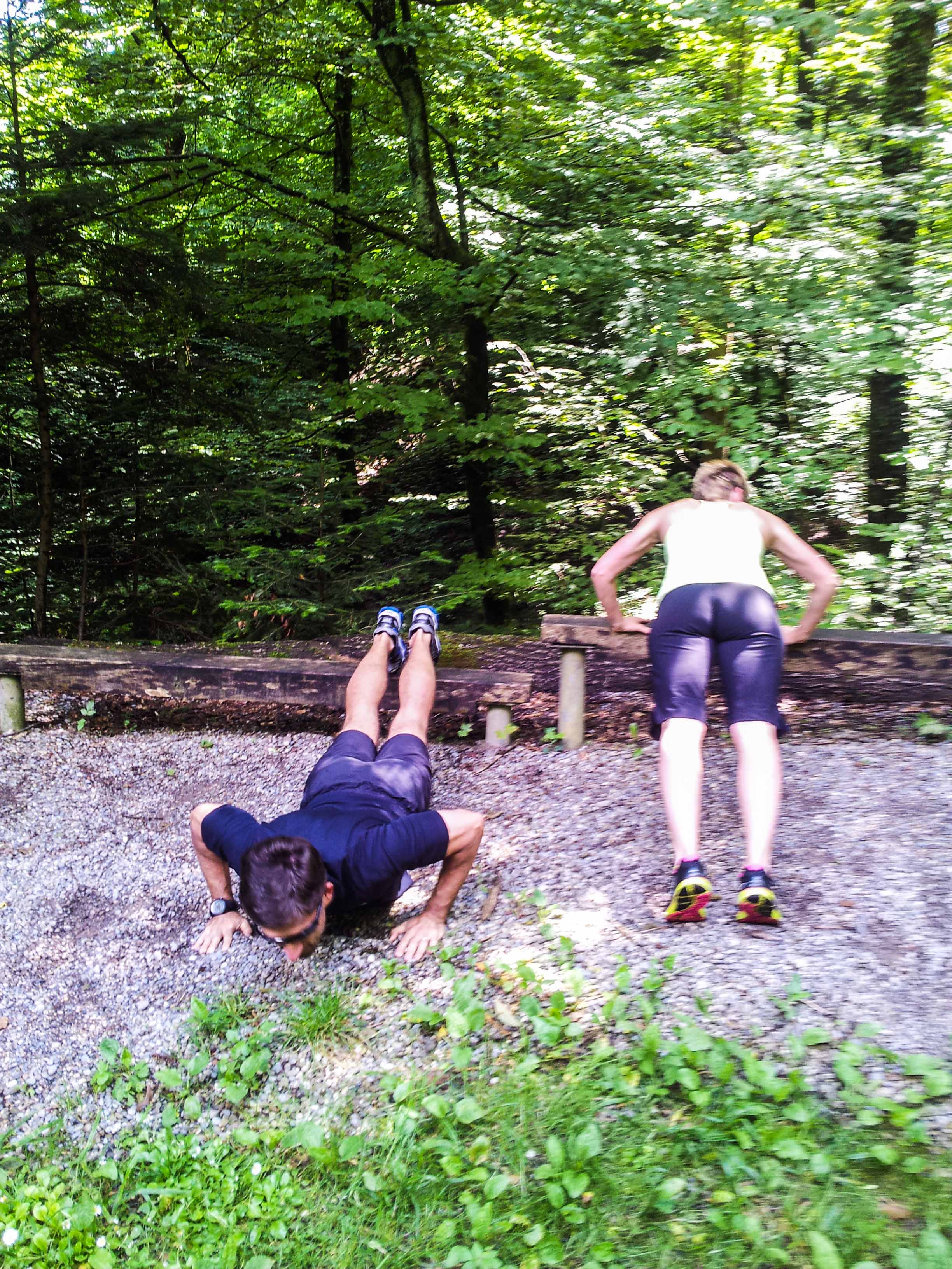 The Woods Wood Be Quiet If No Birds Sang Except The Best: A Workout In The Woods