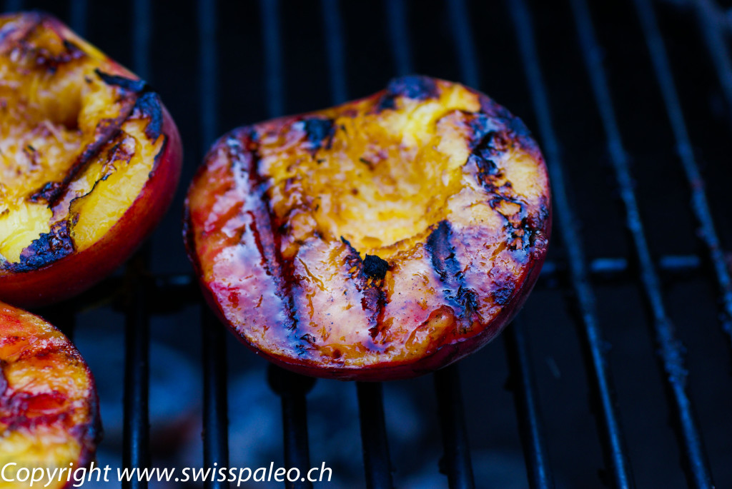 Grilled peaches are like instant pie