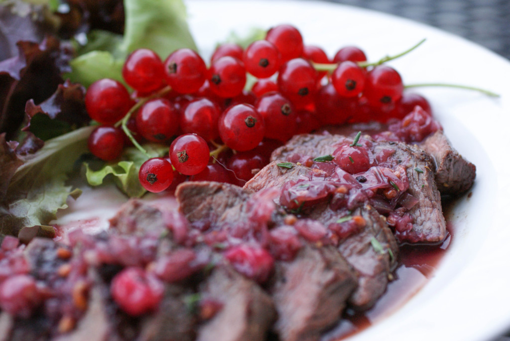 Venison with Red Currant Sauce