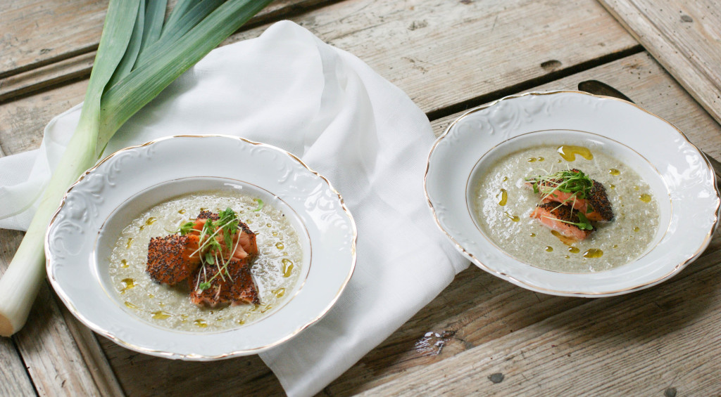Fennel-Potato Soup With Smoked Salmon Recipe — Dishmaps