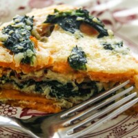 Sweet Potato Spinach Frittata