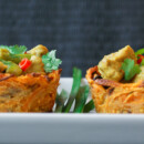 Sweet Potato Cups (filled with chicken curry)