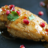 Sweet and Sticky Pomegranate Chicken