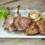 Roasted Rack of Lamb with Figs and Fennel