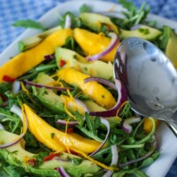 Avocado Mango and Rucola Summer Salad