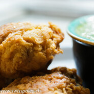 Paleo Cajun Fried Chicken (served with green chili coriander sauce)