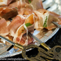 Cajun Spiced Chicken Skewers Wrapped in Prosciutto