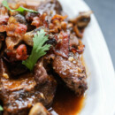 Slow Cooked Beef Short Ribs with Bacon and Mushrooms