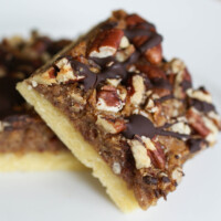 Chocolate Pecan Pie Bars and a Dinner Guest