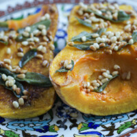 Butternut Squash with Sage and Roasted Pine Nuts