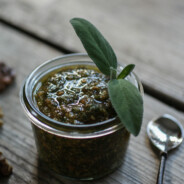 Roasted Walnut and Sage Pesto